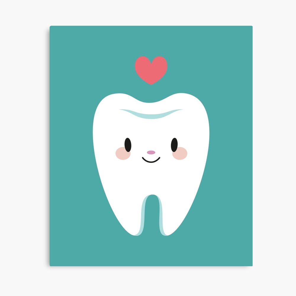 Cute little molar teeth Canvas Print