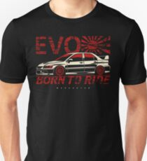 Born to ride. Lancer Evolution IX Unisex T-Shirt