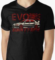 Born to ride. Lancer Evolution IX Men's V-Neck T-Shirt