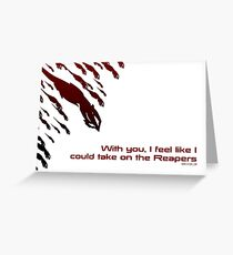 Mass Effect valentine's sweetheart card reapers Greeting Card