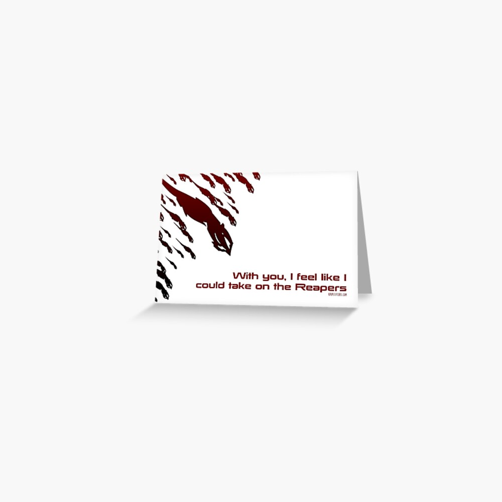 Mass Effect valentine's sweetheart reapers Greeting Card