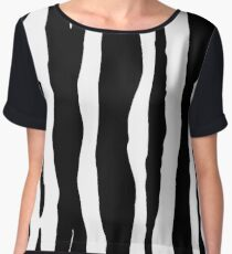 Zebra Pattern Print Chiffon Top