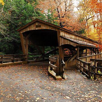 Lantermans Mill Bridge In Fall by thatstickerguy