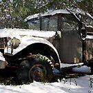 Snow covered truck by EplusC Studio