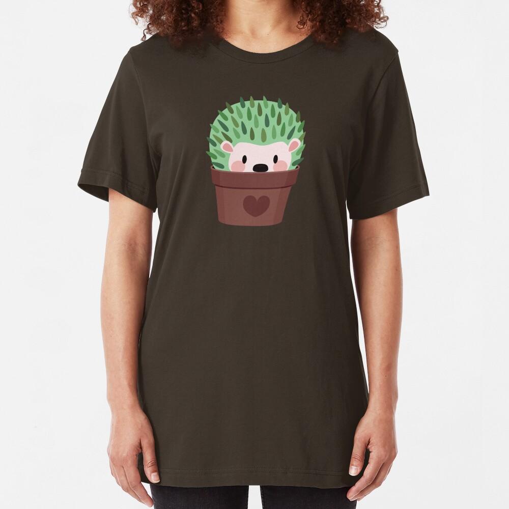 Hedgehogs disguised as cactuses Slim Fit T-Shirt