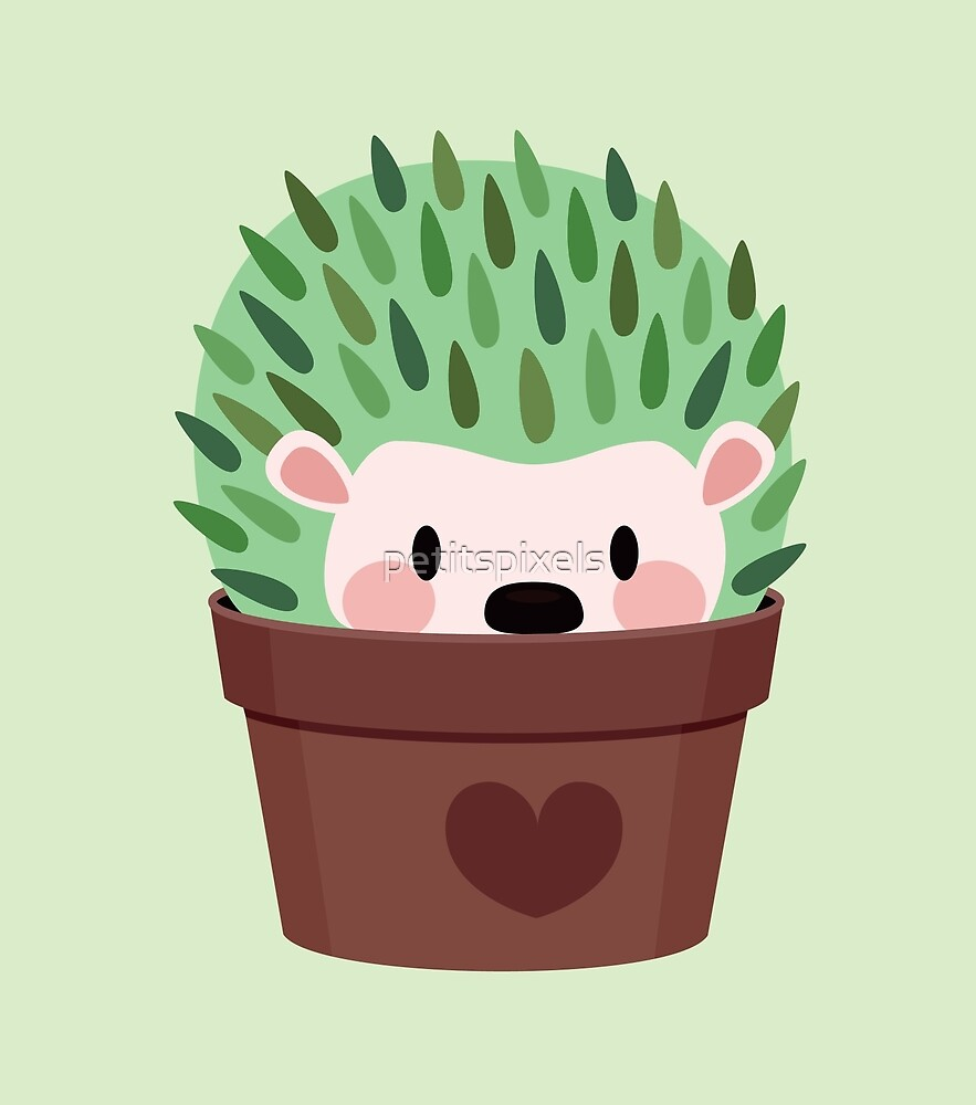 Hedgehogs disguised as cactuses by petitspixels
