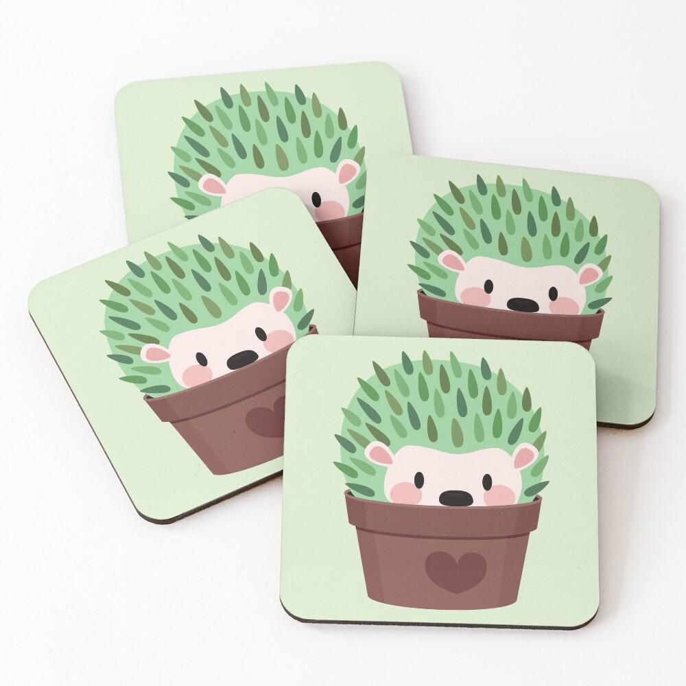 Hedgehogs disguised as cactuses Coasters (Set of 4)