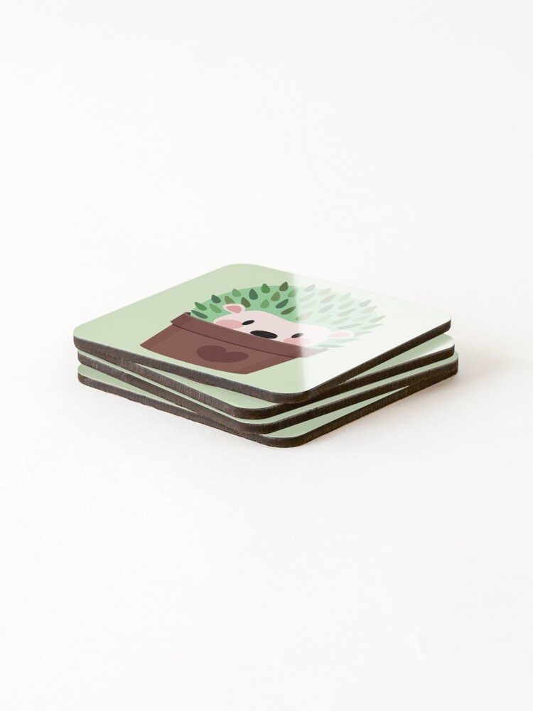 Alternate view of Hedgehogs disguised as cactuses Coasters (Set of 4)
