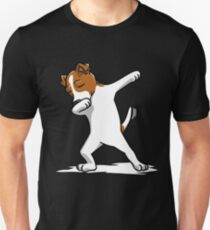 Funny Dabbing Jack Russell Terrier Dog Unisex T-Shirt