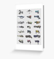 arcade weapons Greeting Card