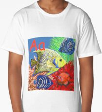 A is for Angel Fish Long T-Shirt