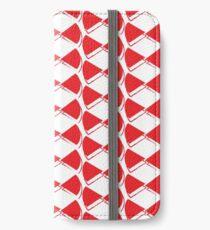 Red pop papillon iPhone Wallet/Case/Skin