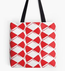 Red pop papillon Tote Bag