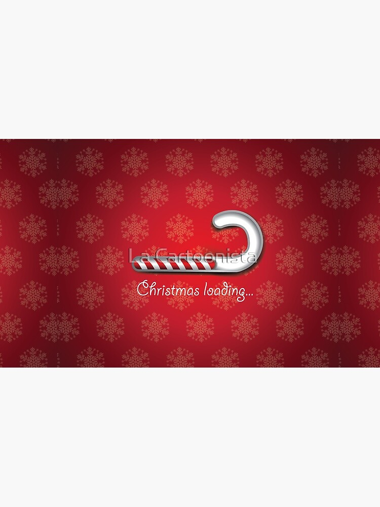 Christmas loading background with digital striped candy cane bar by shelma1