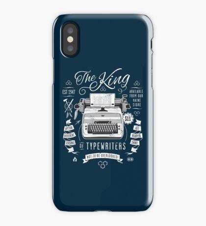 The King of Typewriters iPhone Case/Skin