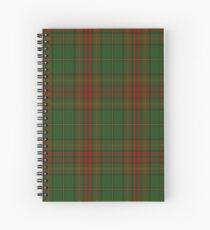 00304 Cavan County District Tartan  Spiral Notebook