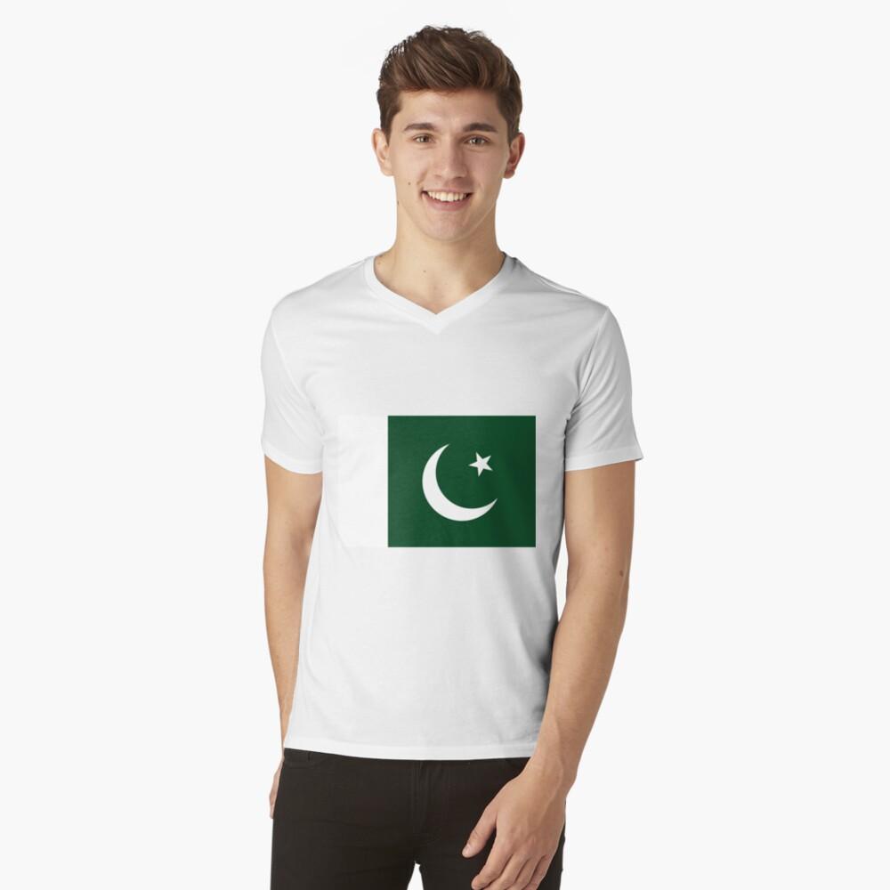 Pakistan Flag Mens V-Neck T-Shirt Front