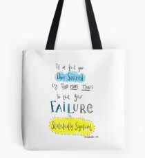 If at first you don't succeed.... THE SCIENCE VERSION. Tote Bag