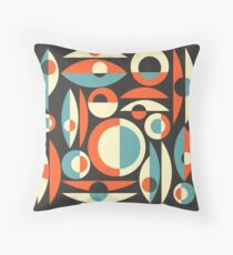 Retro Eames Era  Pisces Throw Pillow