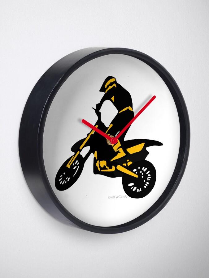 De MotocrossReloj De De Motocicleta Silueta Motocicleta Silueta Motocicleta MotocrossReloj Silueta MotocrossReloj DW9IYEH2