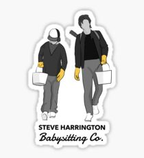 Steve Harrington Babysitting Co. Sticker