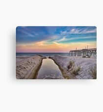 Surfside Beach Sunset Metal Print