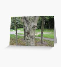 Wild Tree Face Greeting Card