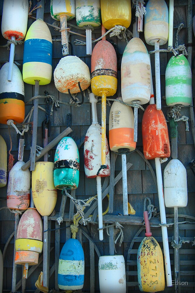 Buoys in Cape Cod by Edson