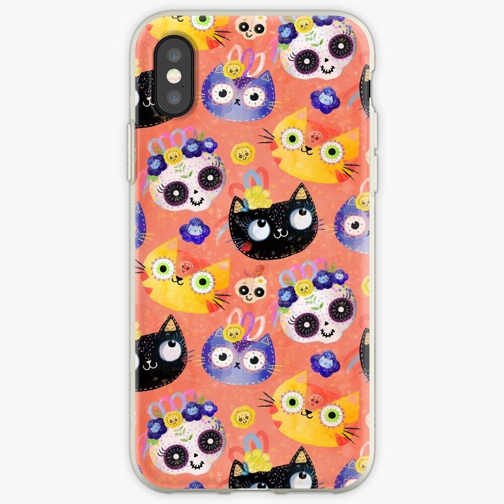 Cats and Skulls iPhone Case & Cover