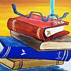 HER FAVORITE BOOKS  by WhiteDove Studio kj gordon