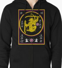 Dragon Swords Zipped Hoodie