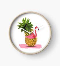 Flamingoparty Uhr