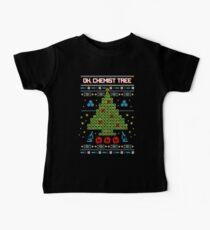 oh chemist tree ugly christmas sweatshirt baby tee