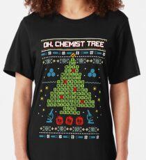 Oh Chemist Tree Ugly Christmas Sweatshirt Slim Fit T-Shirt