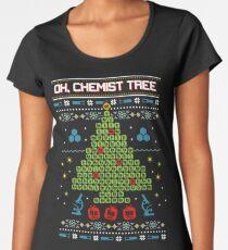 Oh Chemist Tree Ugly Christmas Sweatshirt Women's Premium T-Shirt
