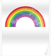 Rainbow Classic Retro Vintage Distressed Poster