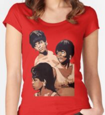 Diana Ross & the Supremes Women's Fitted Scoop T-Shirt