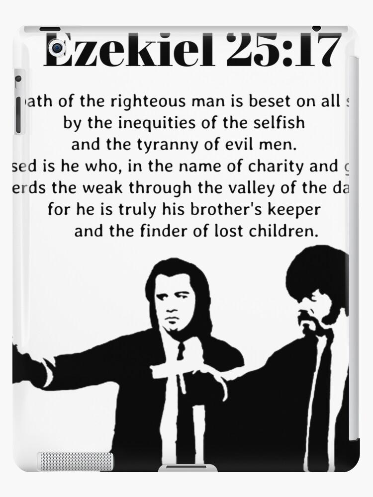\'Ezekiel 25:17 Pulp Fiction Quote\' iPad Case/Skin by BobbyWong