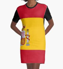 Flag of Spain Graphic T-Shirt Dress