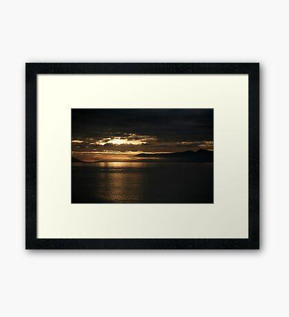 low cloud Framed Print
