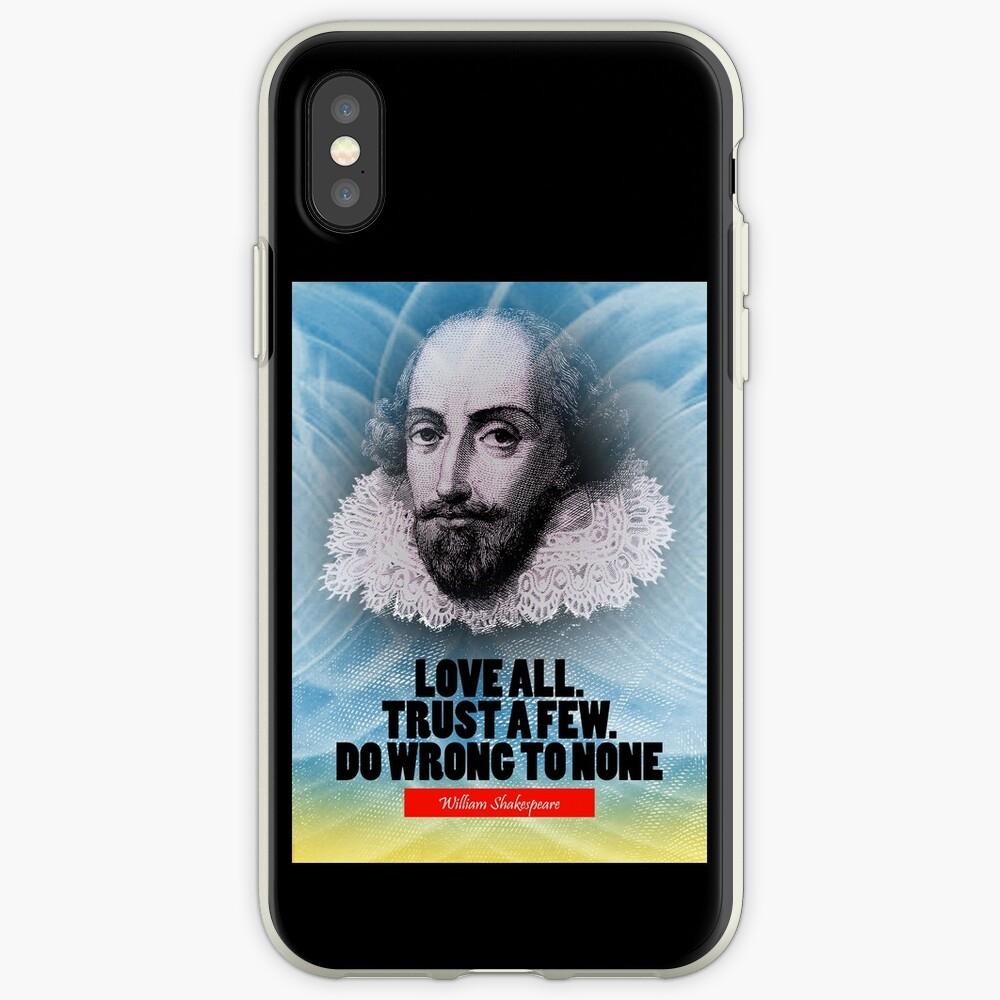 Cita de la inspiración de William Shakespeare Funda y vinilo para iPhone