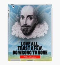 William Shakespeare Inspiration Quote iPad Case/Skin