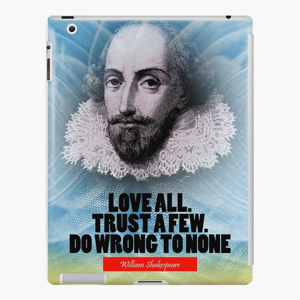 Cita de la inspiración de William Shakespeare Funda y vinilo para iPad