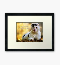 Love is Blind - Because It's Unconditional Framed Print