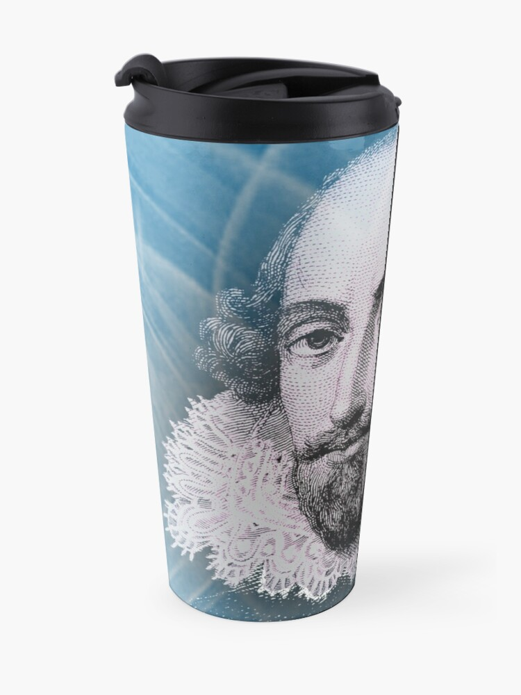 Vista alternativa de Taza de viaje Cita de la inspiración de William Shakespeare