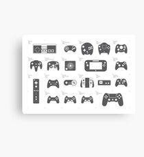 Evolution of Game Controllers (Original) Canvas Print