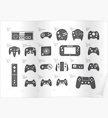Evolution of Game Controllers (Original) Poster