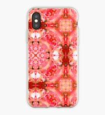 Girlie Pink Abstract Background Pattern iPhone Case
