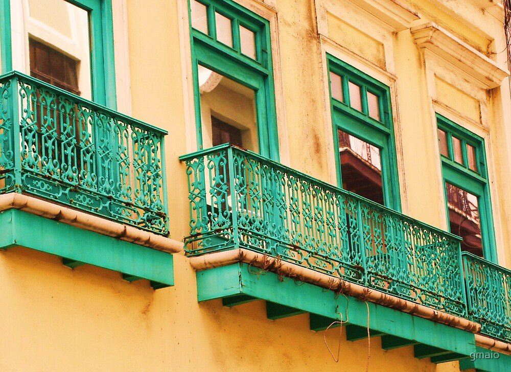 Balconies in Puerto Rico by gmaio