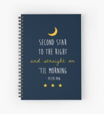 Peter Pan (Version Two) Spiral Notebook
